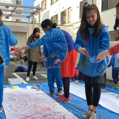 Art Collaboration with Preschool and Middle school students at Shinagawa International School