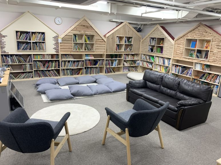 Library from school facilities