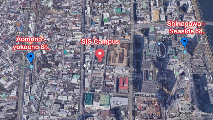 SIS Campus and 2 Stations on the Access Map