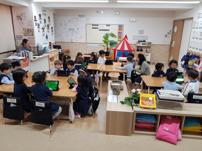 Pre-K Classroom from the school facilities
