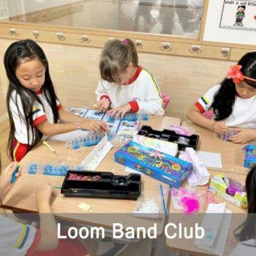 Loom Band Club in Shinagawa International School