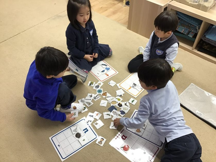 School Day Care with Pre-K students at Shinagawa International School