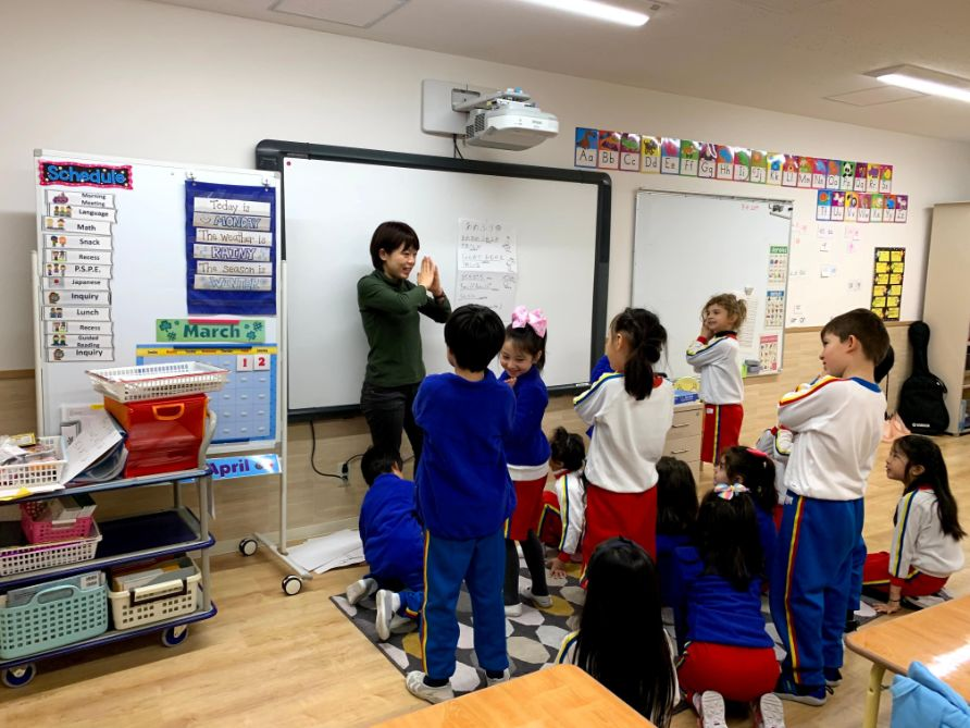 Japanese Lesson with students