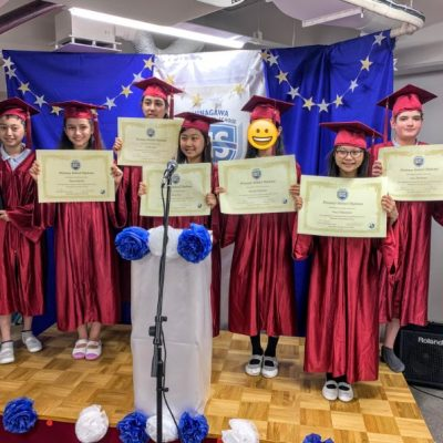 Grade 6 Students get a diploma in Graduation Ceremony