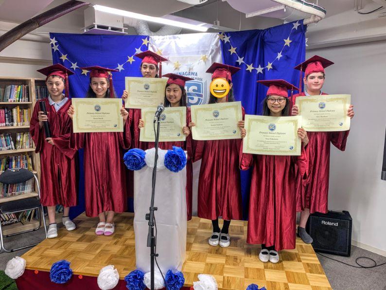 Grade 6 Students get a diploma