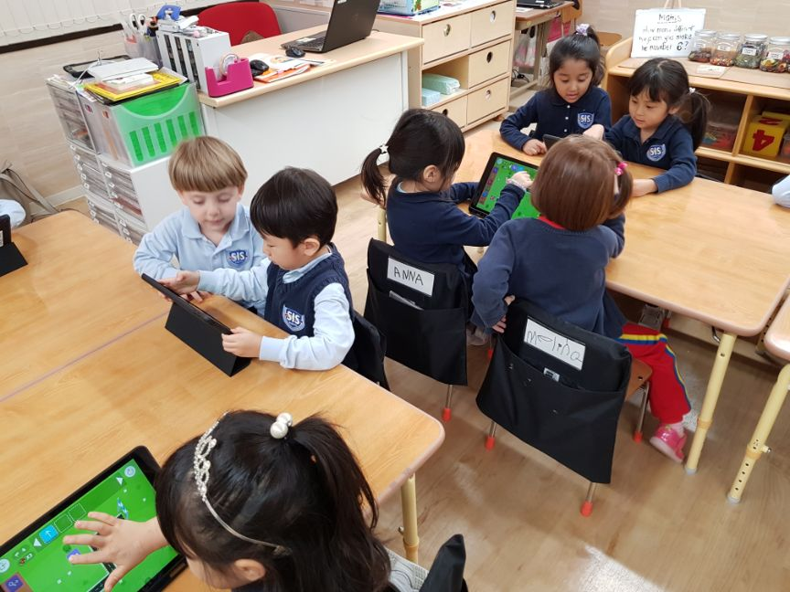 A typical day for early years students at Shinagawa International School