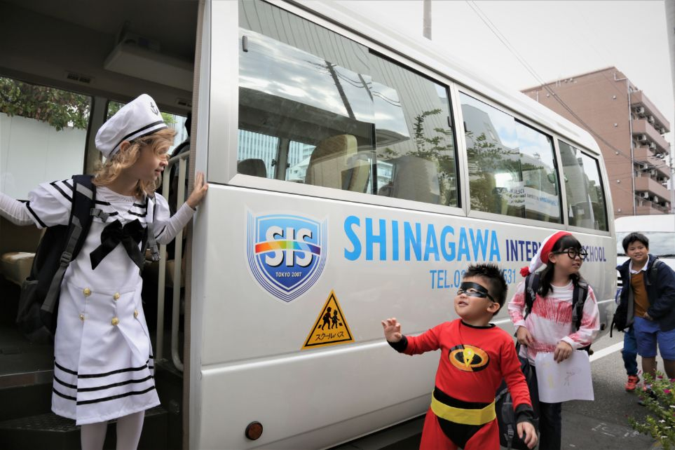 School bus service at Shinagawa International School