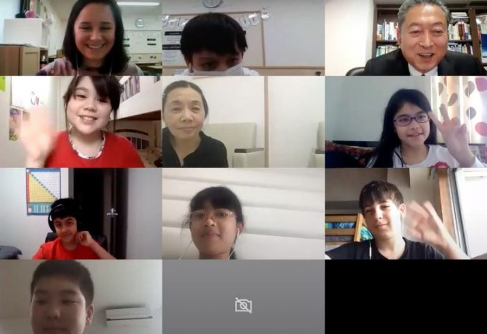 Grade 5 students interview with Mr. Hatoyama, Former Prime Minister of Japan