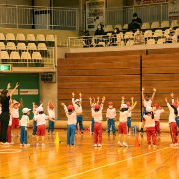 Kindergarten students in Sports Day 2020