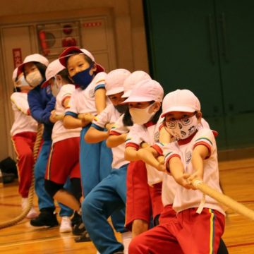 Primary Years Students Tug of War in Sports Day 2020