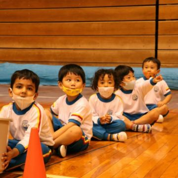 Early Years students in Sports Day 2020