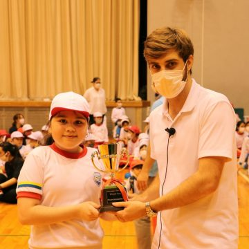 Prize ceremony is in Sports Day 2020