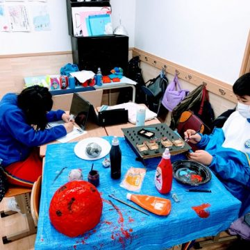 Some Arts Week projects that grade 5 students make
