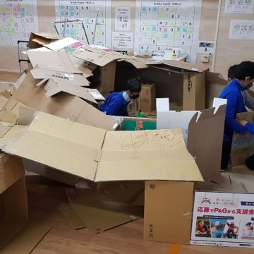Cardboard maker time with our students and teachers