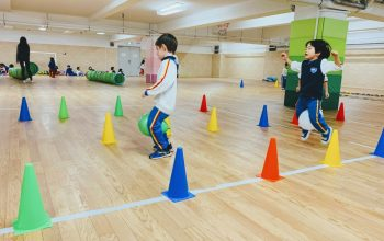 Physical Education Activities with IB PYP Early Years in gym