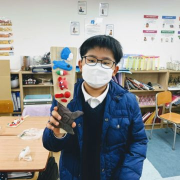 Grade 5 students create hand made games during Japanese Culture Day
