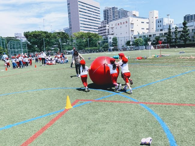 SIS students do some activities in Samezu Soccer field