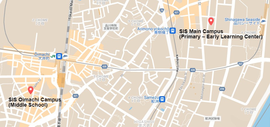 SIS Main and Oimachi Campus on Google Maps