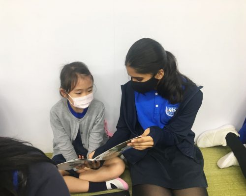 Reading Challenge with middle school students and primary school students