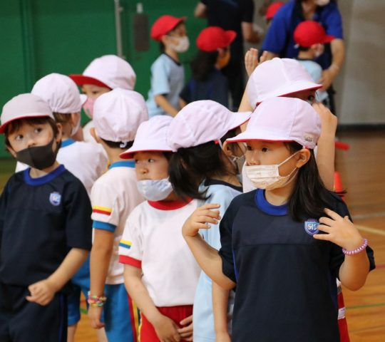 Grade 1 students in Sports Day 2021