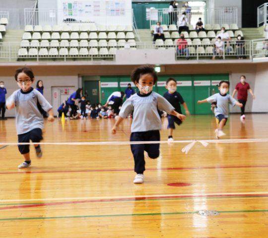 Sprint race with Preschool students