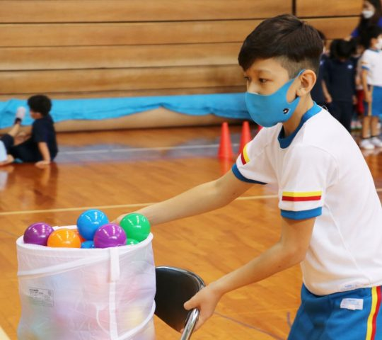 Basket ball activity with Pre-Kindergarten students