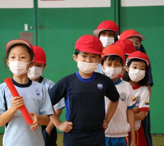 Grade 2 students in Sports Day 2021