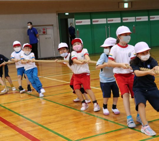 Tug of war activity in Sports Day 2021